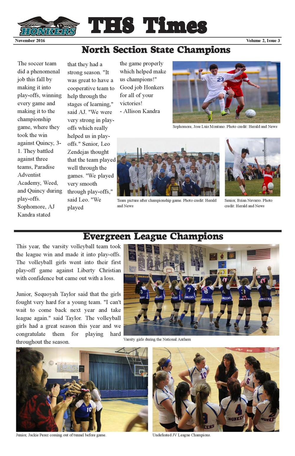 THS Times Newsletter